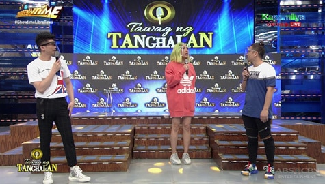 Vice Ganda, nainggit sa faceshield nina Ryan at Vhong | It's Showtime Image Thumbnail