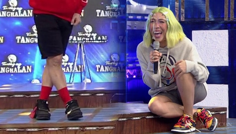 'Nilalamon niya 'yung energy ko' Vice Ganda, na-distract sa pulang medyas ni Jhong | It's Showtime