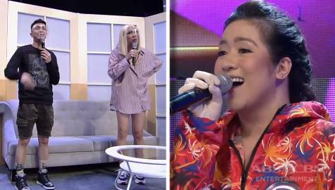 Vice Ganda, napatayo nang makita si Angeline bilang celebrity singer of the day | It's Showtime Image Thumbnail