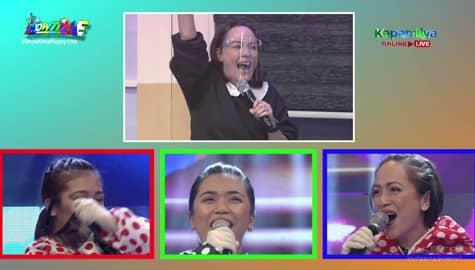 It's Showtime: Matet De Leon, nahulaan ang celebrity singer sa Hide & Sing na si Tina Paner Image Thumbnail