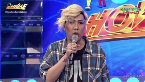 WATCH: Vice Ganda, nagpalaro ng bugtong sa It's Showtime studio  Image Thumbnail