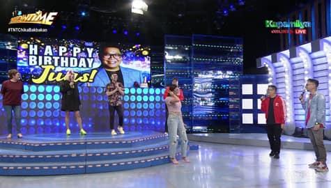 WATCH: Showtime family, ipinaramdam kung gaano kabuting tao ang may kaarawang si Jugs  Image Thumbnail