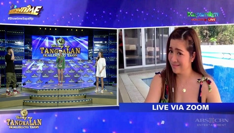 Vice Ganda, inutusan si Angeline na maligo sa pool | It's Showtime Image Thumbnail
