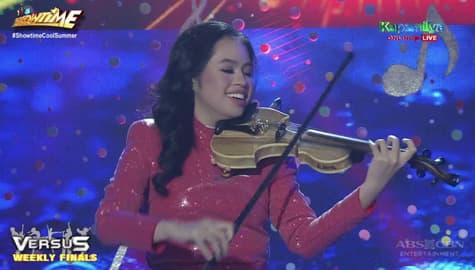 It's Showtime: Unica-Ihahaha, muling ipinamalas ang galing sa paggamit ng Violin sa Versus Image Thumbnail