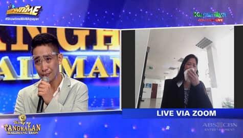 Daily contender Dexter, naluha nang makausap ang ina live via zoom sa It's Showtime Image Thumbnail