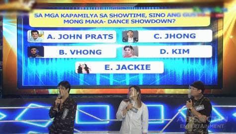 WATCH: Sino ang gustong maka-dance showdown nina Wilbert, Kid at Zeus sa It's Showtime family? Image Thumbnail