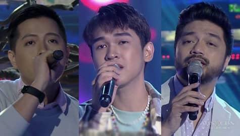 Reiven Umali, Nyoy Volante & Jason Dy serenade madlang people on It's Showtime