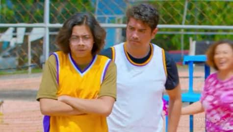 Matmat, kinalaban ang anak na si Theo sa basketball | Oh My Dad Image Thumbnail