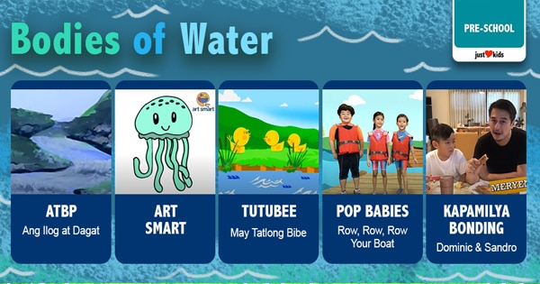 "Tara na sa isang ""water-themed"" adventure to learn more about the animals, plants and other creatures under the sea!"