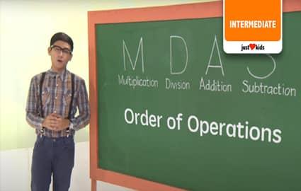 Order of Operations - MDAS | MathDali Shorts Image Thumbnail