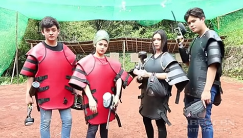 WATCH: The Gold Squad does the action-packed paintball battle Image Thumbnail