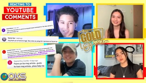 WATCH: The Gold Squad reacts to YouTube comments | Online Kapamilya Shows Image Thumbnail
