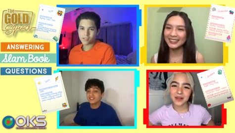 The Gold Squad takes on the Slam Book Questions Challenge | Online Kapamilya Shows Image Thumbnail
