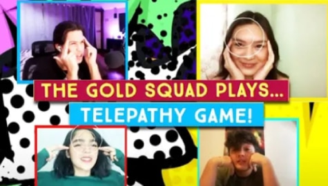 WATCH: Telepathy Game with KyCine and SethDrea | The Gold Squad Image Thumbnail