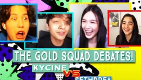 WATCH: KyCine vs SethDrea in Deba-Teens! | The Gold Squad Image Thumbnail