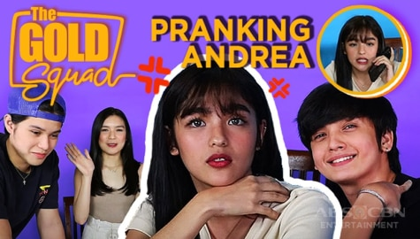 WATCH: Francine, Kyle and Seth prank Andrea | The Gold Squad Image Thumbnail
