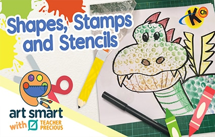 Art Smart with Teacher Precious | Shapes, Stamps and Stencils