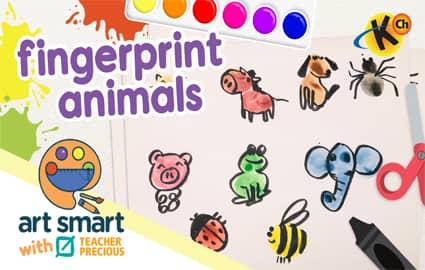 Art Smart with Teacher Precious | Fingerprint Animals