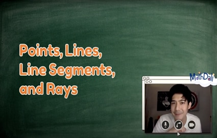 Mathdali Live | Points, Lines, Line Segments, Ray Image Thumbnail