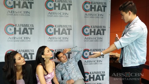 Los Bastardos stars Jake, Marco, Kylie and Maxine play charades on Kapamilya Chat Image Thumbnail
