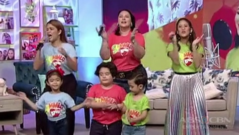 Momshie Karla, Jolina & Melai perform the newest ABS-CBN summer station ID on Magandang Buhay Image Thumbnail
