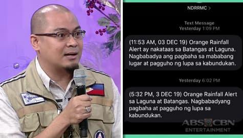 Magandang Buhay: Mark Timbal, ipinaliwanag ang importansiya ng emergency alert message mula sa NDRRMC Image Thumbnail