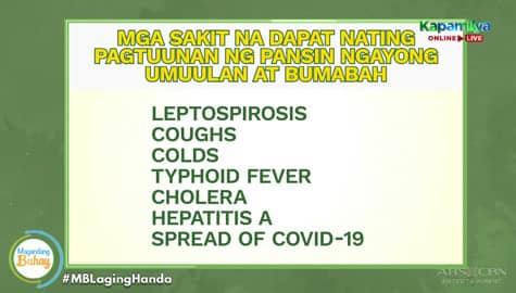 Magandang Buhay: Ang mga sakit na pwedeng makuha pag nalubog sa baha Image Thumbnail
