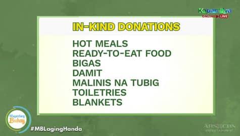 Magandang Buhay: Ano nga ba ang dapat ibigay at i-donate sa mga nasalanta ng bagyo? Image Thumbnail