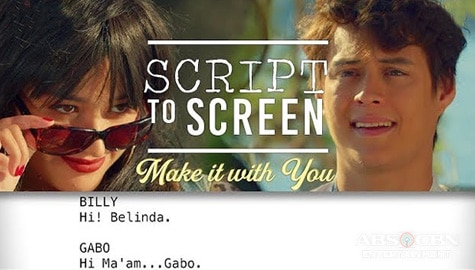 Make It With You SCRIPT TO SCREEN: Billy meets Gabo in Croatia