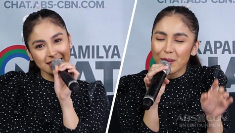 Julia Barretto takes on the Kapamilya Chat's Sing A Song Challenge Image Thumbnail