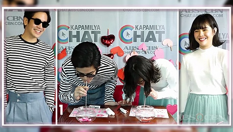 Joshua vs Janella in Kapamilya Chat's Feb-ibig Calendar Game