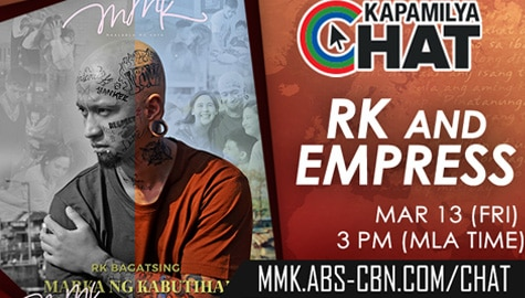 Kapamilya Chat with RK Bagatsing and Empress Schuck for MMK	 Image Thumbnail