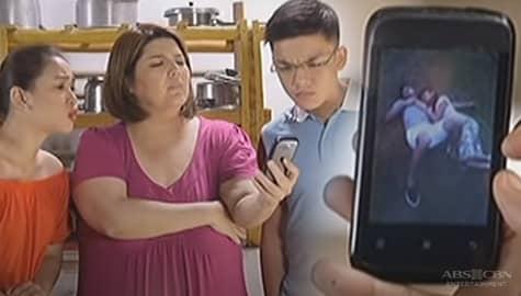 Pangako Sa'Yo: Takong, ipinakita ang sweet na litrato nina Angelo at Yna kina Kim, Miguel at Chef Jen Image Thumbnail