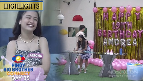 Day 35: Housemates, naghanda ng birthday surprise para kay Andrea | PBB Connect Image Thumbnail