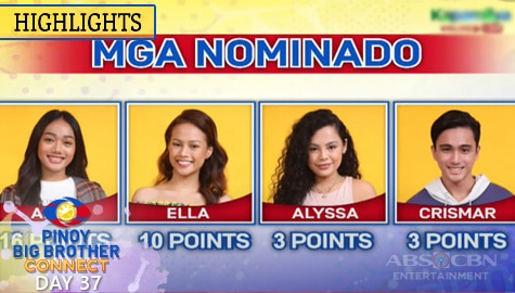 Day 37: 4th Nomination Night Official Tally Of Votes | PBB Connect Image Thumbnail