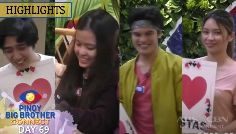 Day 69: Quincy, Liofer, Andrea at Ralph, panalo sa huling game of hearts challenge ni Kuya | PBB Connect Image Thumbnail