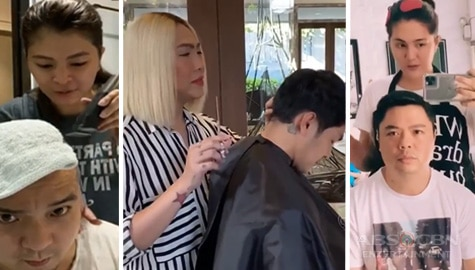 Rated K: Mga celebs na naging instant barbero ngayong may quarantine