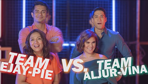 WATCH: Ejay-Pie vs Aljur-Vina in Guess The Millennial Term Challenge | Sandugo