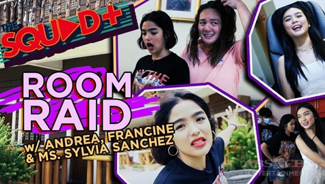 WATCH: Room Raid with Andrea, Francine and Sylvia Sanchez   The Squad+ Image Thumbnail