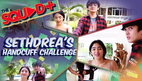 WATCH: Handcuff Challenge with Seth and Andrea | The Squad+ Image Thumbnail
