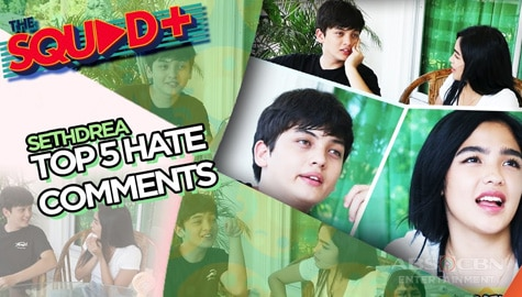 WATCH: Top 5 Hate Comments with Seth and Andrea | The Squad+ Image Thumbnail