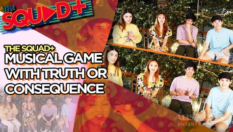 WATCH: Musical Game + Truth or Consequence with KD, Angela, Kobie and Sam | The Squad+ Image Thumbnail