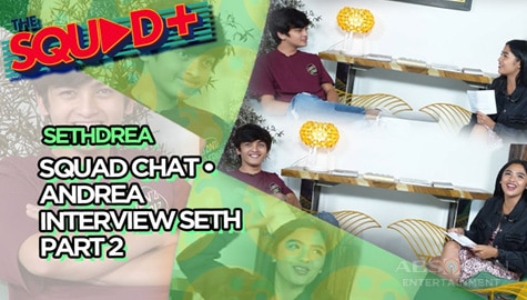 WATCH: Seth faces fast talk questions of Andrea | The Squad+ Image Thumbnail