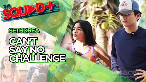 WATCH: Can't Say No Challenge with Seth and Andrea | The Squad+ Image Thumbnail