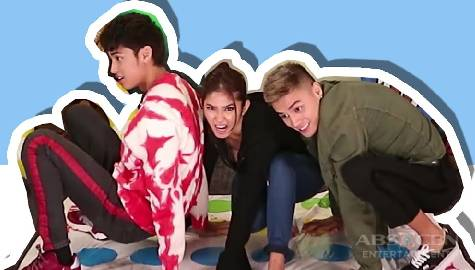 Loisa, Ronnie and Donny play Twister