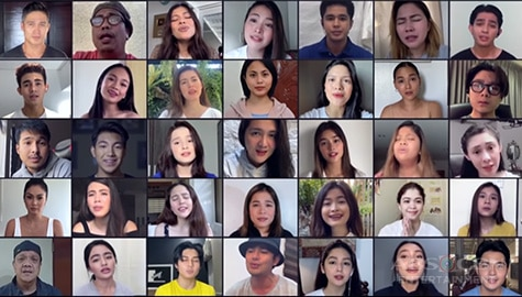 "Star Magic artists sing ""When You Believe"" as anthem of hope in overcoming COVID-19 pandemic Image Thumbnail"