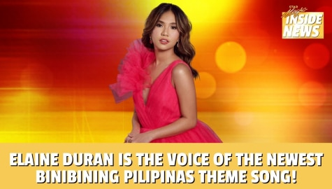 Star Magic Inside News: Elaine Duran is the voice of the newest Binibining Pilipinas 2021 theme song Image Thumbnail