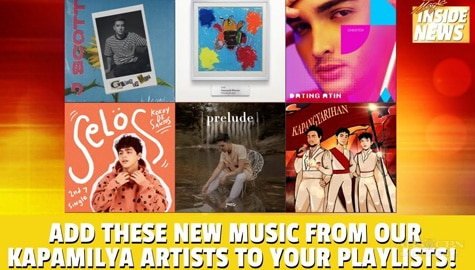 Star Magic Inside News: Add these new music from our Kapamilya Artists to your playlist! Image Thumbnail