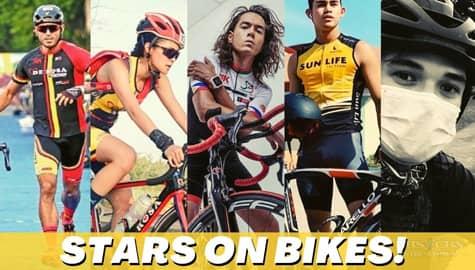 Star Magic Inside News: Stars on bikes Image Thumbnail