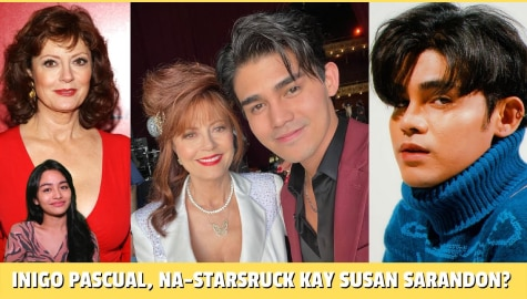 Star Magic Inside News: Inigo Pascual, na-star struck kay Susan Sarandon? Thumbnail